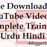 YouTube Videos Complete Training in Urdu Hindi